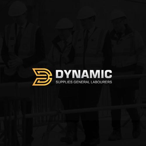 Modern, dynamic D letter logo concept