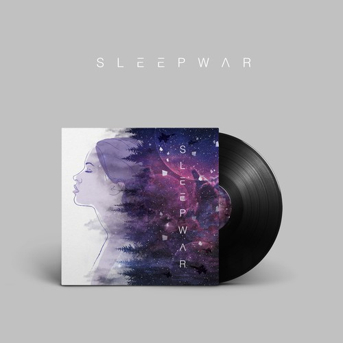 Album Cover for Indie Electronic Rock Band, SLEEPWAR