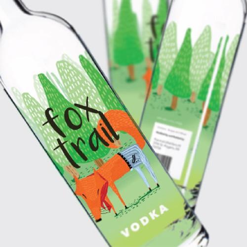 Illustration for Vodka Label
