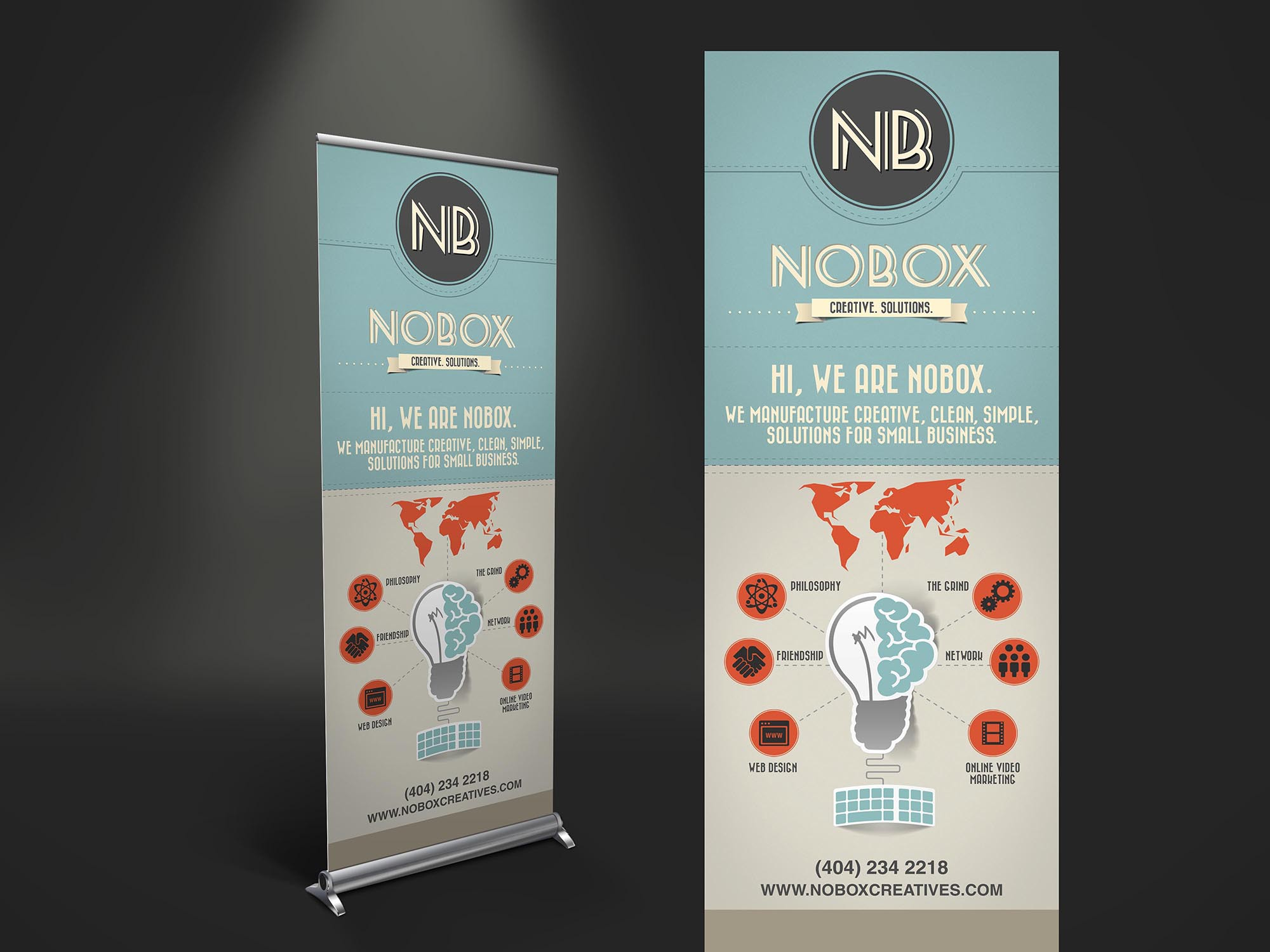 NoBox Creatives Banner