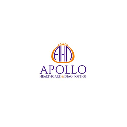 Logo for a medical practice called APOLLO Healthcare & Diagnostics.