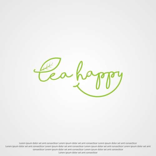 Tea Happy logo entry