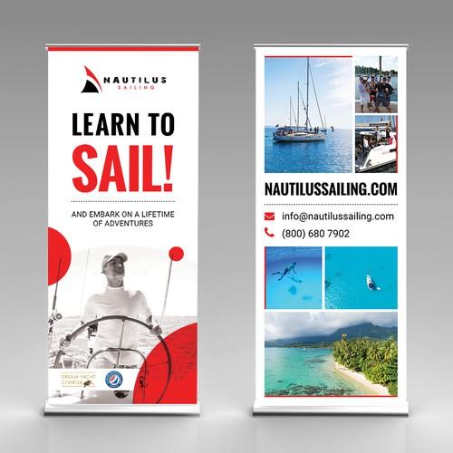 Nautilus Sailing Pull-up Banner