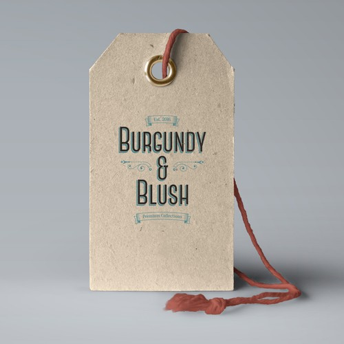 burgundy & blush logo
