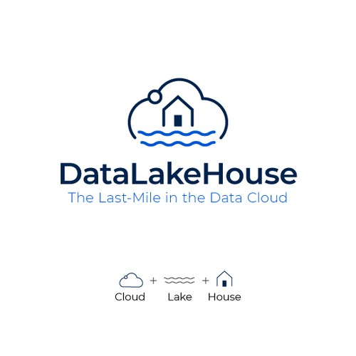 Clean Logo design for cloud data company