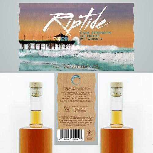 Riptide Whiskey Label