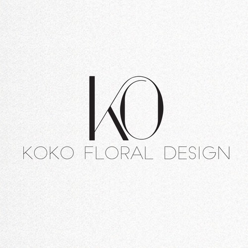 Modern Black and White Logo for floral designer (KOKO)