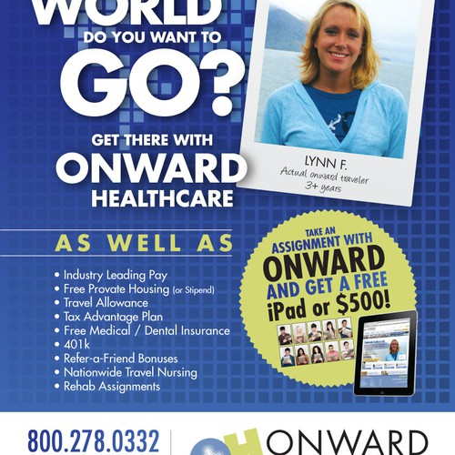 Advertisement for ONWARD HEALTHCARE