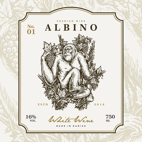 Logo and label design for Albino Wine