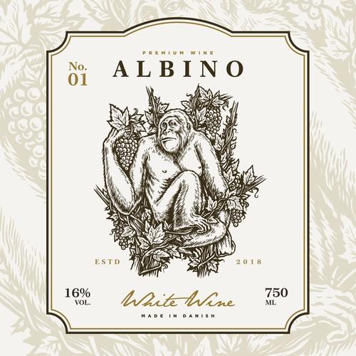 Logo and label design for Albino Wine