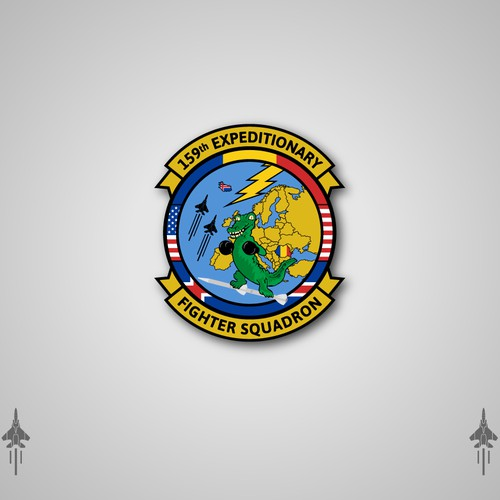 Emblem for pilot fighter squadron.