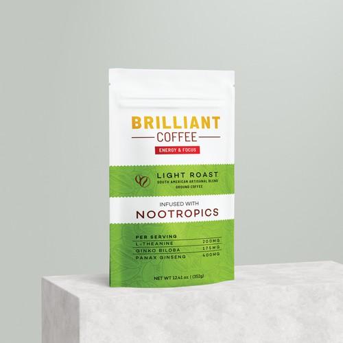 Brilliant Coffee bag design