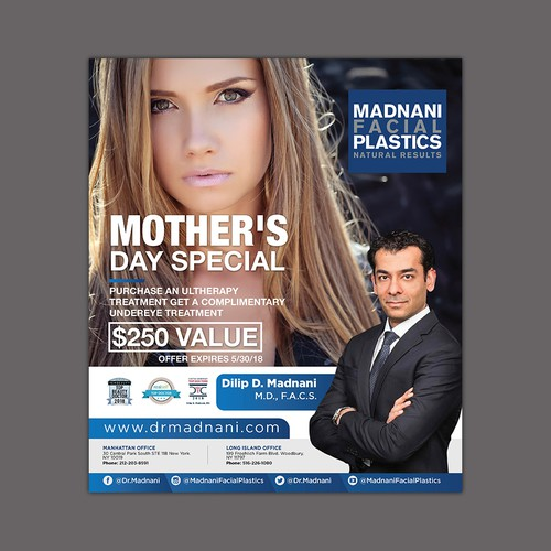 Mother's Day ad for New York Facial Plastic Surgeon