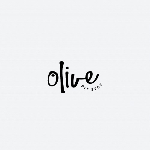 Bold logo for Olive Pit Stop