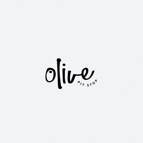 Bold logo for Olive Pit Stop