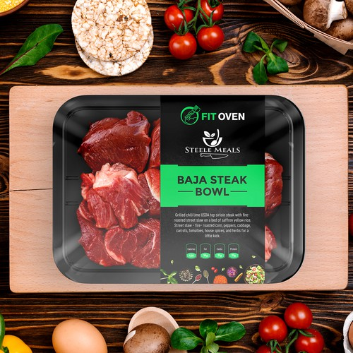 Design a Meal Prep label for containers that stands out from the rest