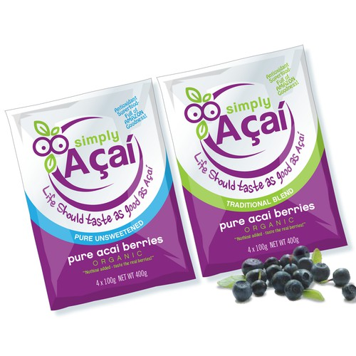 Pouch design for Acai berries