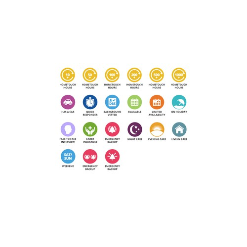 Icons for health care company