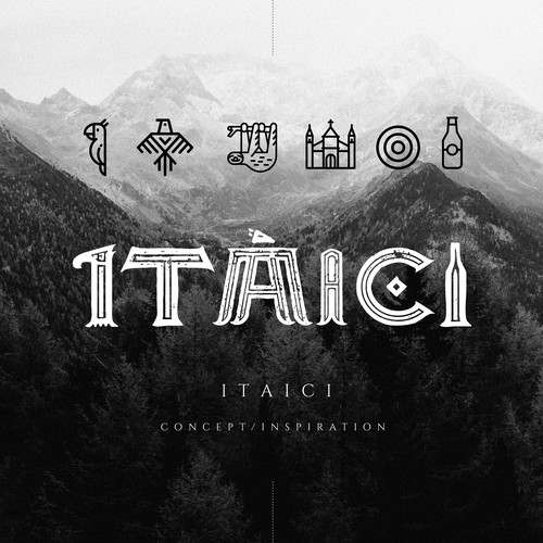 Typography concept for Itaici brewery