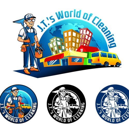 J.T.'s World of Cleaning logo