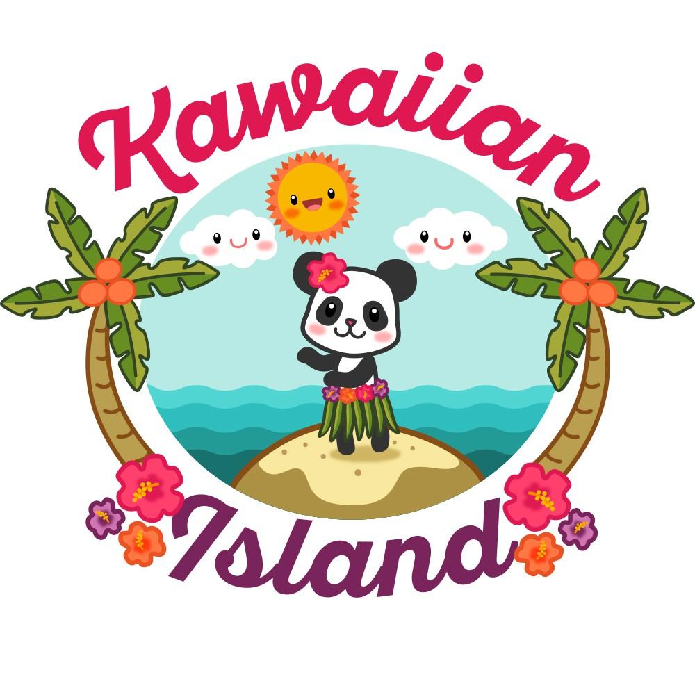 Create a sweet, loveable, kawaii logo for Kawaiian Island