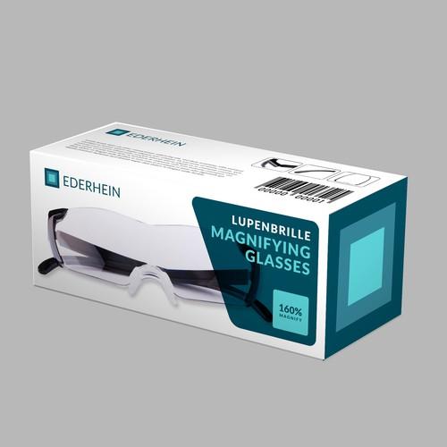 Futuristic Box Design for Magnifying Glass