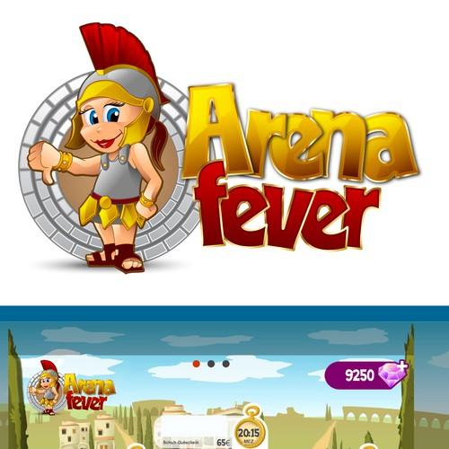 """Logo für ein Mobile Game """"Arenafever"""""""