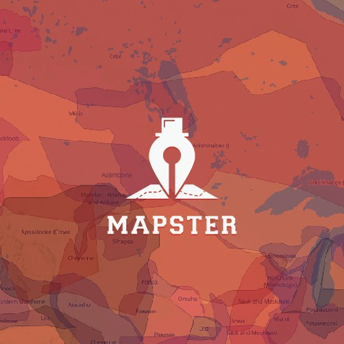 simple and unique concept logo design for Mapster