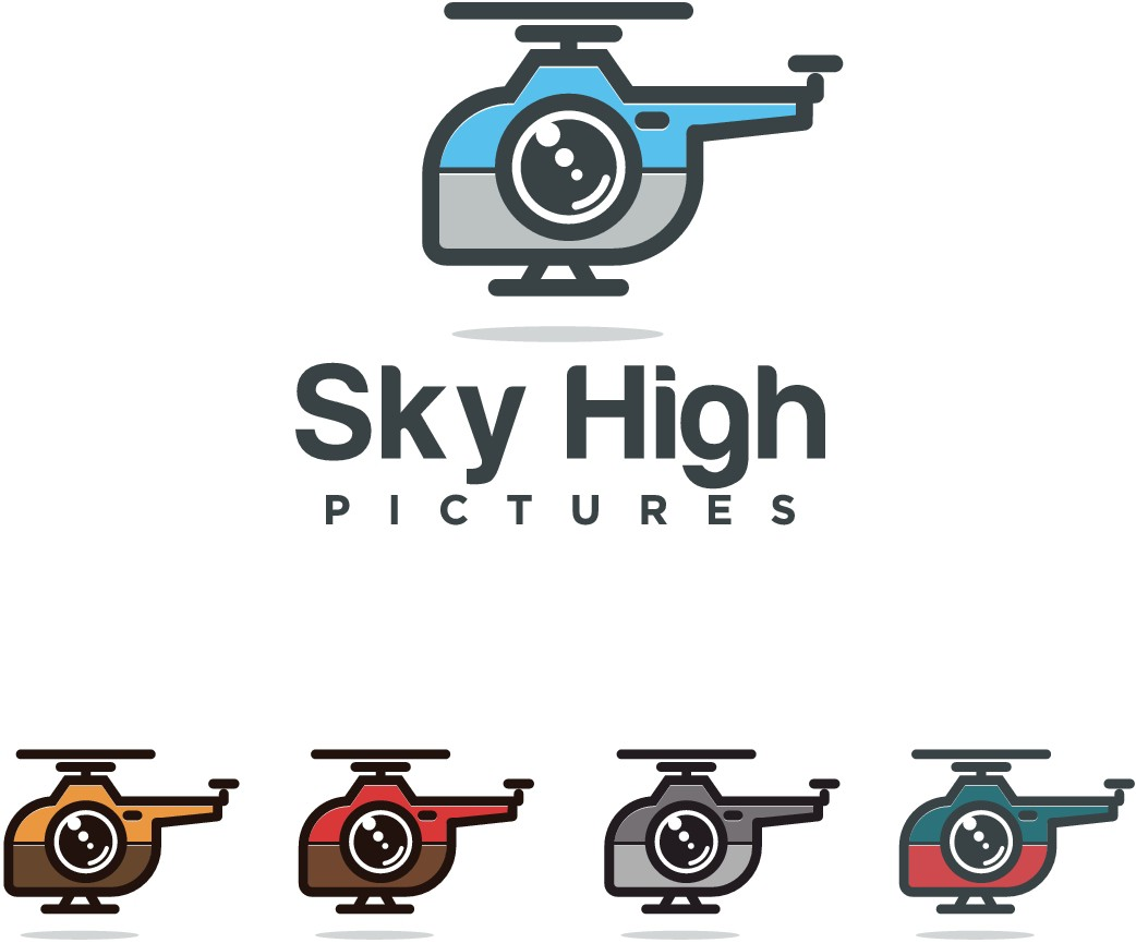 Fun innovated design needed for aerial camera rental company