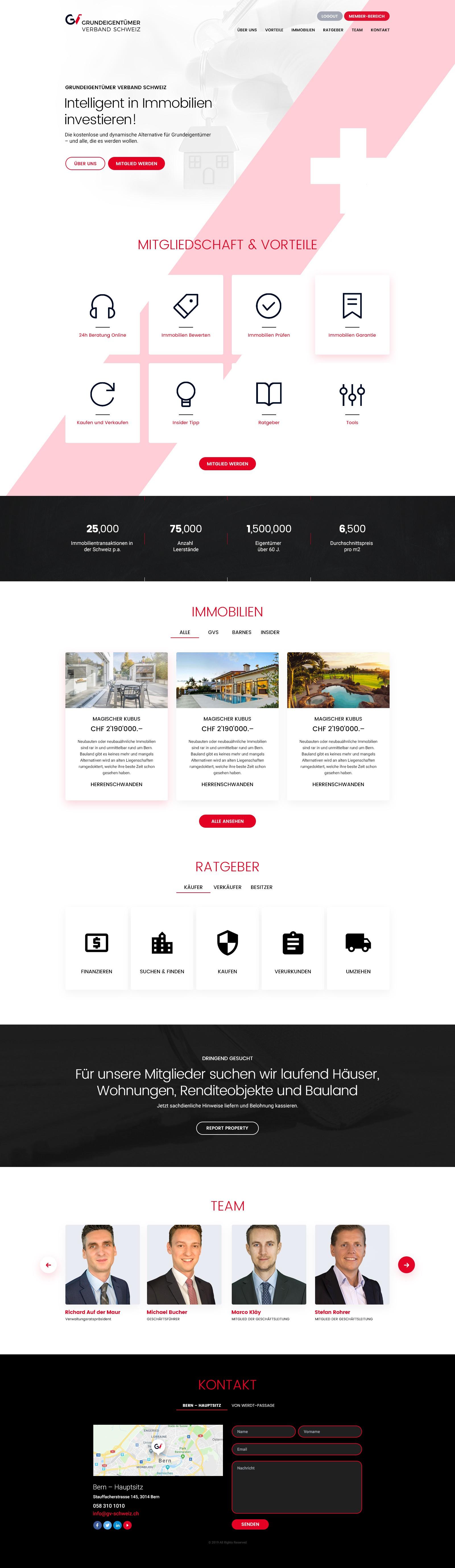 Corporate Design Grundeigentümer Verband Schweiz