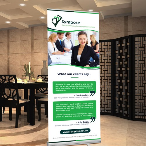 Roll-up Banner design for Sympose