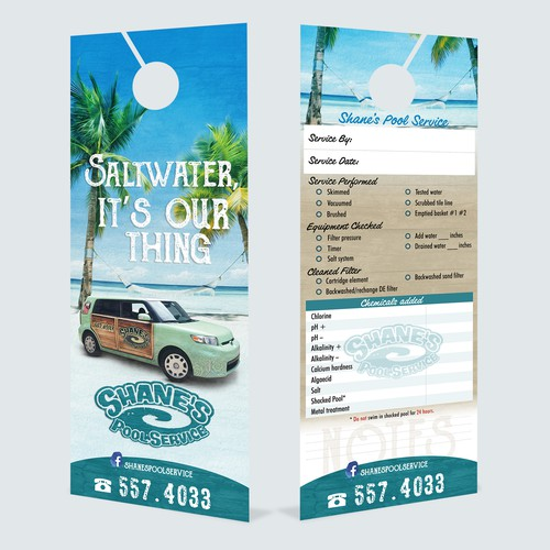 DoorHanger Design For The Coolest Pool Company In The World