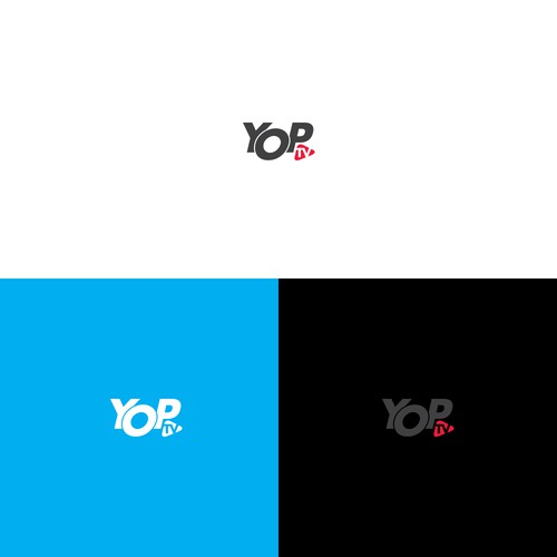 Yop TV logo design