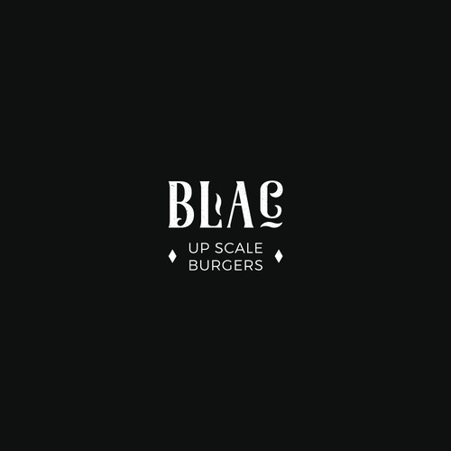 Bold and retro logo concept for premium burger bar