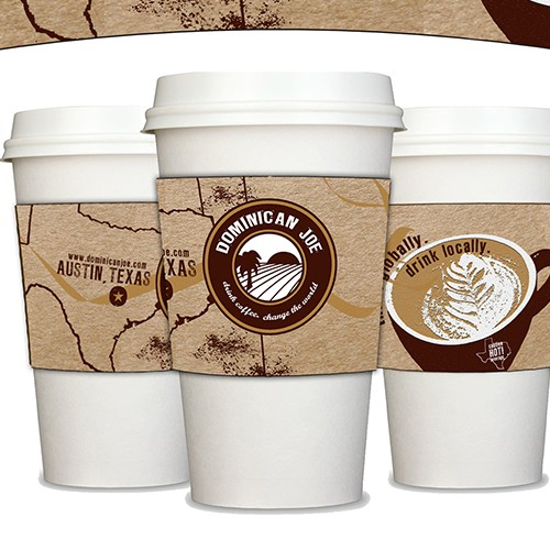 Coffee Sleeve Design for Dominican Joe Coffee
