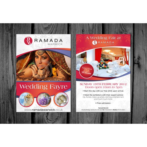 Ramada Warwick wedding fayre leaflet size A5 needed!
