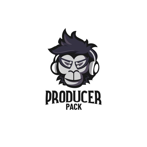 Mascot/character logo for music production company.