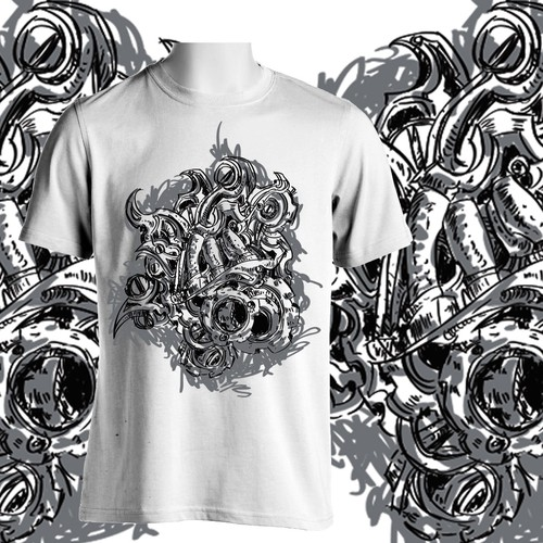Steampunk-style art/illustration needed for legendary MMA clothing line!