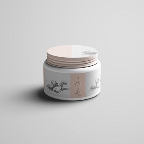cream label packaging