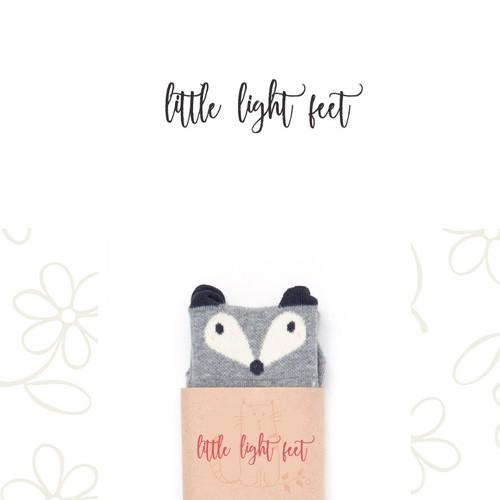 Whimsical logo for Little Light Feet (children's fashion)