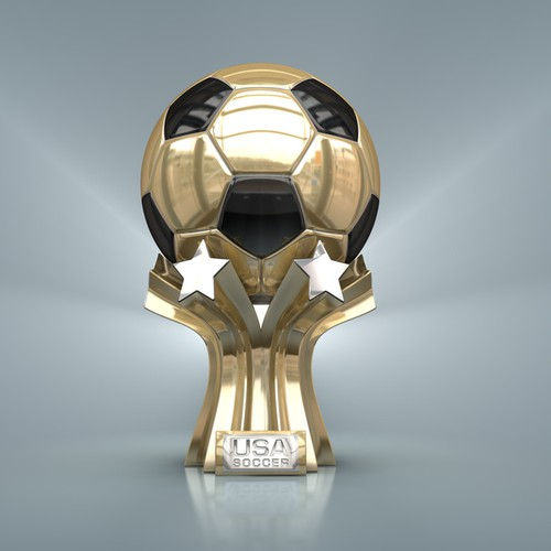 USA Soccer Trophy Design