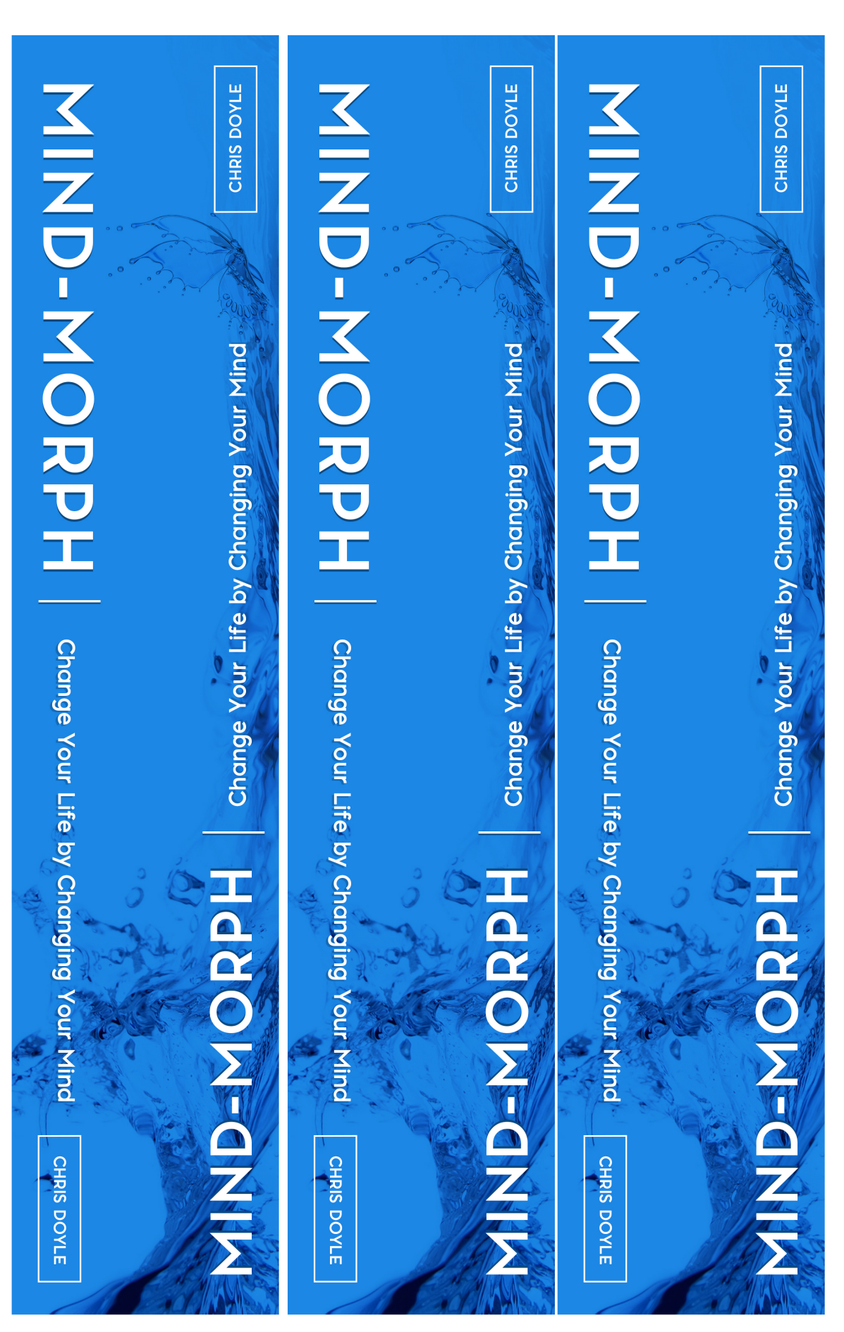 Binder cover, binder spine and curriculum cover page