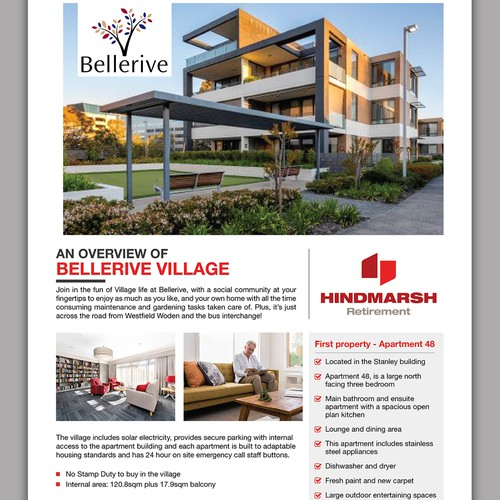 Design a Real Estate Print ad for a retirement village