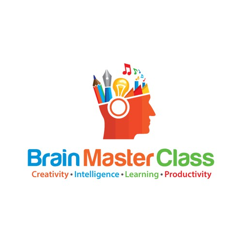 A Colorful Logo for a podcast which is about improving creativity, innovation, productivity and intelligence.