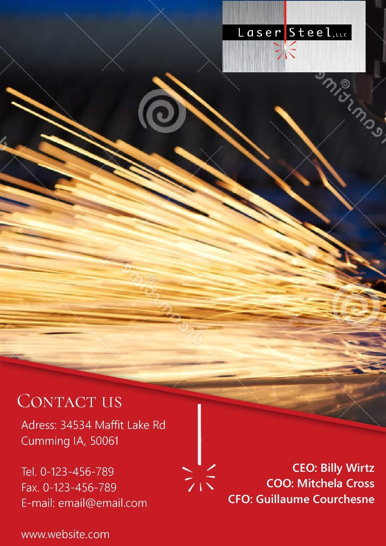 Design promotional brochure for innovative laser steel company!