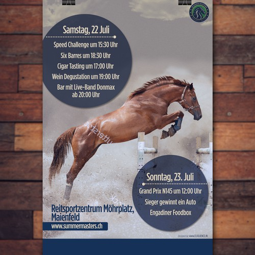 horse jumping poster
