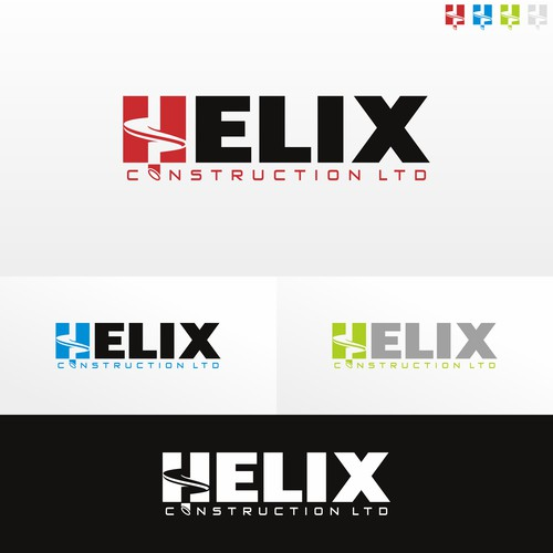 "Logo design for helical pile construction company"" helix construction ltd"""