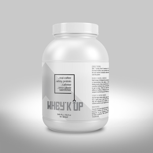 WHEY'K UP Label design