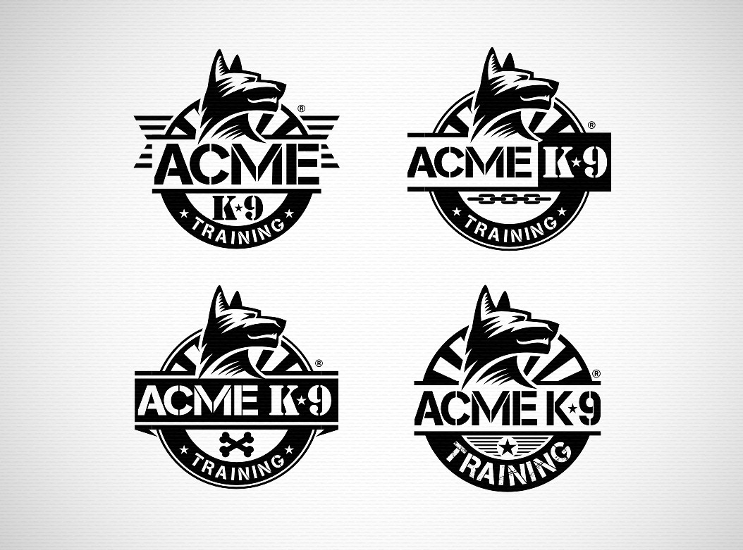 "Help ""Acme K-9 Training"" or just ""Acme K-9"" with a new logo"