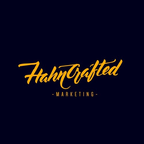 Hahncrafted Marketing Logo Design